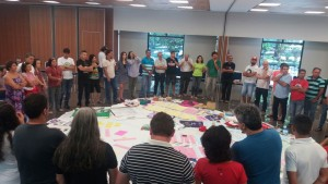 Trabalho coletivo durante a Plenária da ANA. Foto: Laudenice Oliveira/Centro Sabiá
